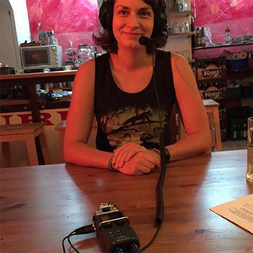 Henriette Werner beim Interview
